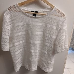 H&m white crotchet Coachella t-shirt